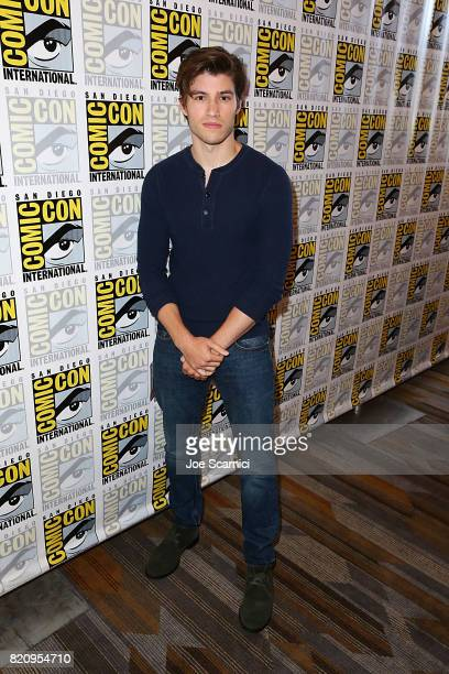 Cameron Cuffe arrives at the Krypton press line at ComicCon International 2017 on July 22 2017 in San Diego California