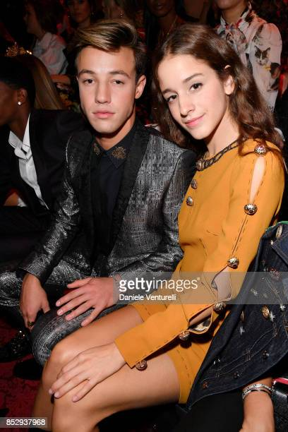 Cameron Dallas and Coco Konig attend the Dolce Gabbana show during Milan Fashion Week Spring/Summer 2018 on September 24 2017 in Milan Italy