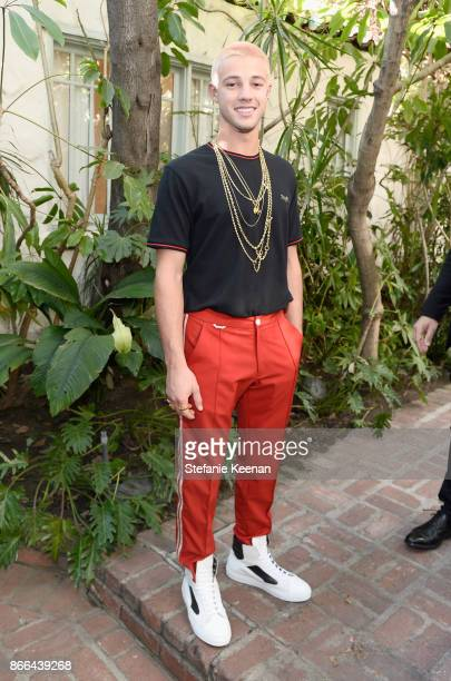 Cameron Dallas attends CFDA/Vogue Fashion Fund Show and Tea at Chateau Marmont at Chateau Marmont on October 25 2017 in Los Angeles California