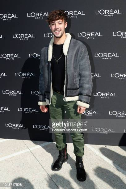 Cameron Dallas attends Le Defile L'Oreal Paris as part of Paris Fashion Week Womenswear Spring/Summer 2019 on September 30 2018 in Paris France