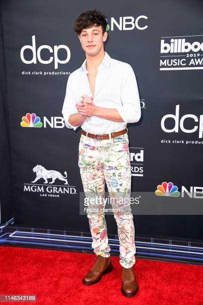 Cameron Dallas attends the 2019 Billboard Music Awards at MGM Grand Garden Arena on May 01 2019 in Las Vegas Nevada