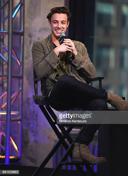 Cameron Dallas attends the Build Series 'Know Thy Selfie' at AOL HQ on January 5 2017 in New York City
