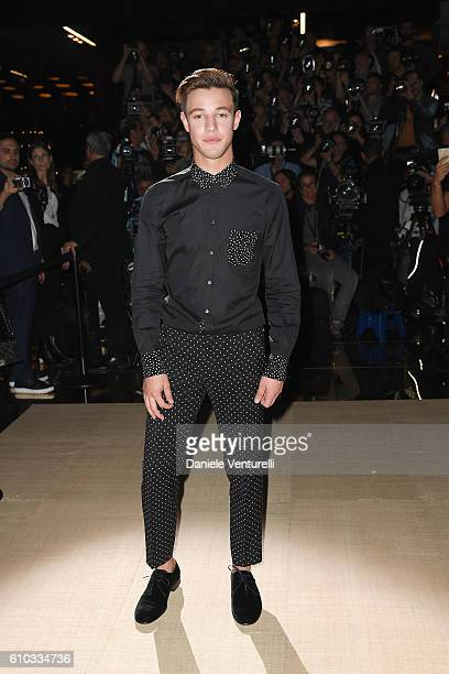 Cameron Dallas attends the Dolce And Gabbana show during Milan Fashion Week Spring/Summer 2017 on September 25 2016 in Milan Italy