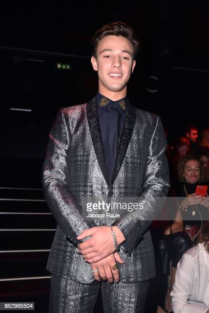 Cameron Dallas attends the Dolce Gabbana show during Milan Fashion Week Spring/Summer 2018 on September 24 2017 in Milan Italy