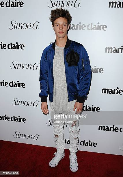 Cameron Dallas attends the Marie Claire Fresh Faces party at Sunset Tower Hotel on April 11 2016 in West Hollywood California