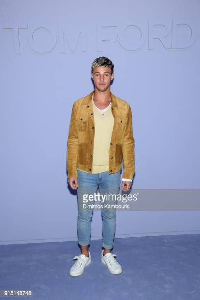 Cameron Dallas attends the Tom Ford Fall/Winter 2018 Men's Runway Show at the Park Avenue Armory on February 6 2018 in New York City
