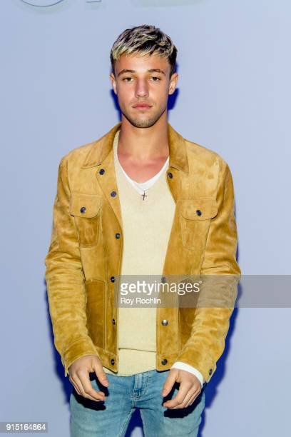 Cameron Dallas attends the Tom Ford Fall/Winter Men's Runway Show at Park Avenue Armory on February 6 2018 in New York City