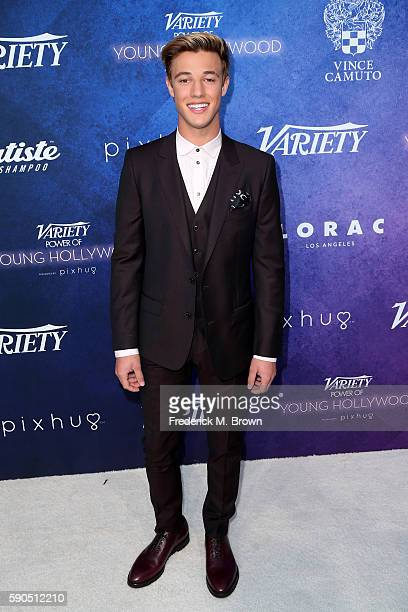 Cameron Dallas attends Variety's Power of Young Hollywood at NeueHouse Hollywood on August 16 2016 in Los Angeles California