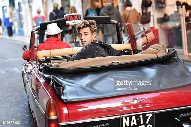 Cameron Dallas is arriving in Capri for the DolceGabbana Summer 2017 #DGMillennials Advertising Campaign on October 19 2016 in Capri Italy