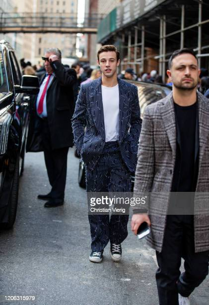 Cameron Dallas is seen outside Michael Kors during New York Fashion Week Fall / Winter 2020 on February 12 2020 in New York City