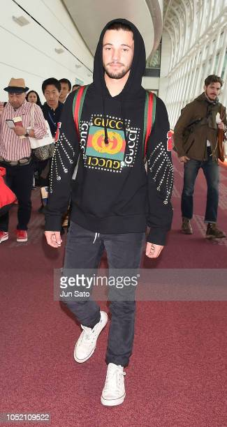 Cameron Dallas is seen upon arrival at Haneda Airport on October 14 2018 in Tokyo Japan
