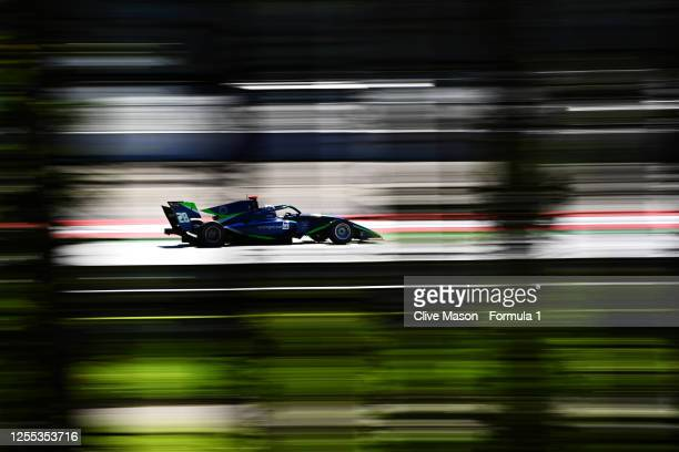 Cameron Das of United States and Carlin Buzz Racing drives during practice for the Formula 3 Championship at Red Bull Ring on July 10, 2020 in...