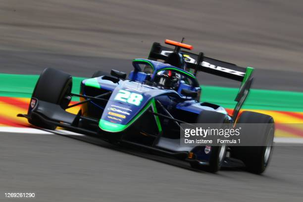 Cameron Das of United States and Carlin Buzz Racing drives during practice for the Formula 3 Championship at Circuit de Spa-Francorchamps on August...