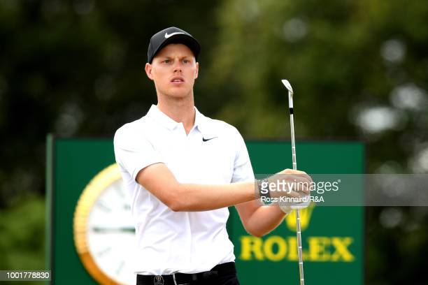 Cameron Davis of Australia plays his shot from the 13th tee during round one of the 147th Open Championship at Carnoustie Golf Club on July 19 2018...