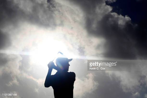 Cameron Davis of Australia plays his shot from the tenth tee during the second round of the Puerto Rico Open at Coco Beach Golf and Country Club on...