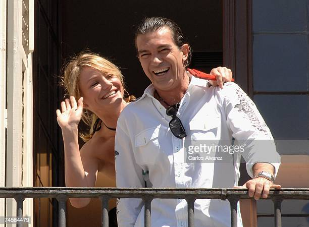 Cameron Diaz and Antonio Banderas attend a photocall for Shrek The Third at Plaza Mayoron on June 13 2007 in Madrid Spain