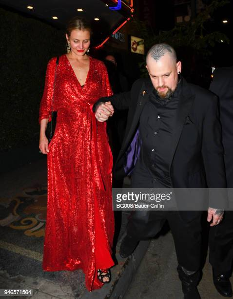 Cameron Diaz and Benji Madden are seen on April 14 2018 in Los Angeles California