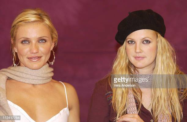 Cameron Diaz and Drew Barrymore during 'Charlie's Angels Full Throttle' Press Conference with Cameron Diaz Drew Barrymore Lucy Liu and McG at Casa...