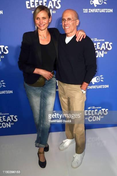 Cameron Diaz and Jeffrey Katzenberg attend the EEEEEatscon 2019 at Barker Hangar on May 19, 2019 in Santa Monica, California.