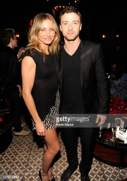 Cameron Diaz and Justin Timberlake attend the after party for the New York premiere of Bad Teacher at the The Bowery Hotel on June 20 2011 in New...