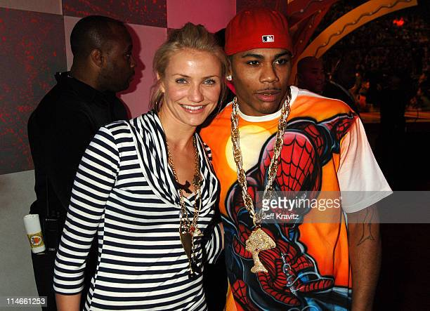 Cameron Diaz and Nelly during Nickelodeon's 19th Annual Kids' Choice Awards - Backstage and Audience at Pauley Pavillion in Westwood, California,...