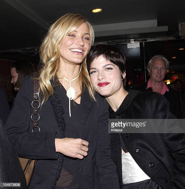 Cameron Diaz and Selma Blair during 'The Sweetest Thing' After Party at Roseland in New York City New York United States