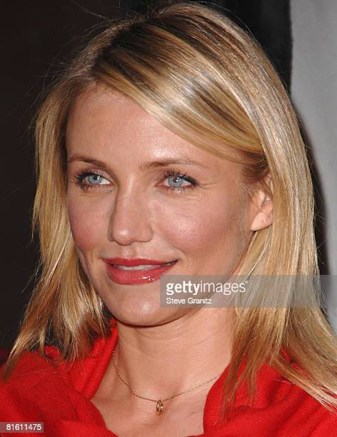 Cameron Diaz arrives at The 2008 Crystal Lucy Awards 'A Black And White Gala' on June 17 2008 at the Beverly Hilton Hotel in Beverly Hills California