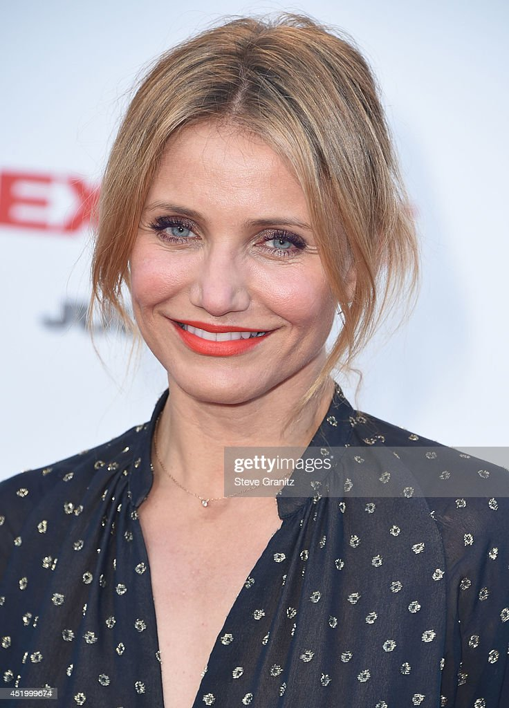 Cameron Diaz arrives at the 'Sex Tape' - Los Angeles Premiere at Regency Village Theatre on July 10, 2014 in Westwood, California.