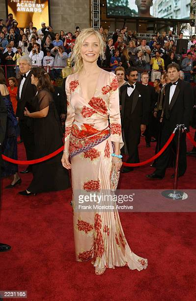 Cameron Diaz arrives for the 74th Annual Academy Awards held at the Kodak Theatre in Hollywood, Ca., March 24, 2002. 2002ImageDirect CR:Frank...