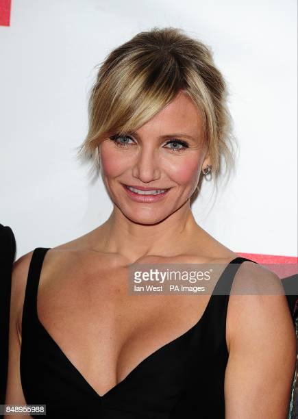 Cameron Diaz arriving for the premiere of Gambit at the Empire Leicester Square London