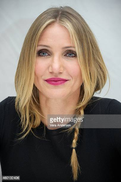 Cameron Diaz at the Annie Press Conference at The London Hotel on December 3 2014 in New York City