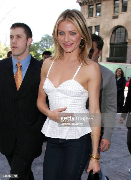 Cameron Diaz at the CBS Plaza in New York City New York