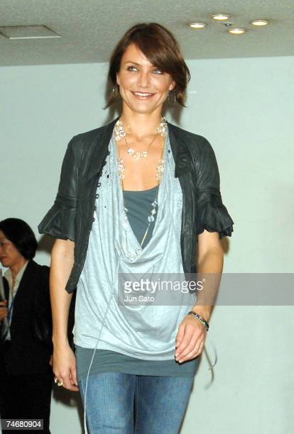Cameron Diaz at the Park Tower Hall in Tokyo, Japan.