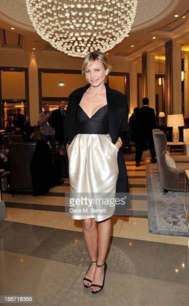 Cameron Diaz attends an after party following the World Premiere of 'Gambit' at Massimo Restaurant & Oyster Bar in the Corinthia Hotel London on...