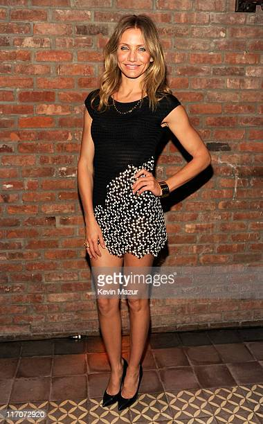 Cameron Diaz attends the after party for the New York premiere of Bad Teacher at the The Bowery Hotel on June 20 2011 in New York City