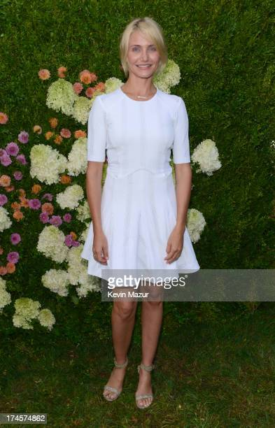 Cameron Diaz attends the Baby Buggy Summer Dinner hosted by Jessica and Jerry Seinfeld and rag bone on July 27 2013 in East Hampton New York