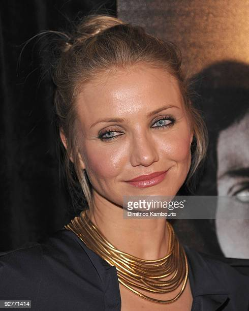 Cameron Diaz attends The Box New York premiere at the AMC Lincoln Square on November 4 2009 in New York City
