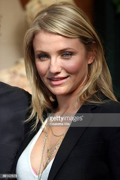 Cameron Diaz attends the Italian photocall to promote her new film In Her Shoes at Hotel Eden on November 10 2005 in Rome Italy