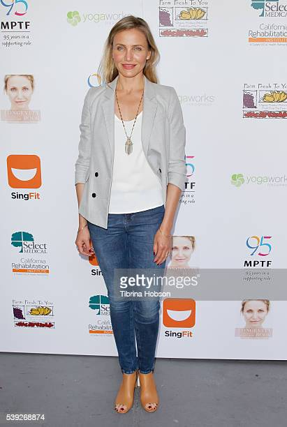 Cameron Diaz attends the MPTF Celebration for health and fitness at The Wasserman Campus on June 10 2016 in Woodland Hills California