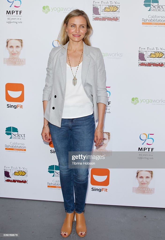 Cameron Diaz attends the MPTF Celebration for health and fitness at The Wasserman Campus on June 10, 2016 in Woodland Hills, California.