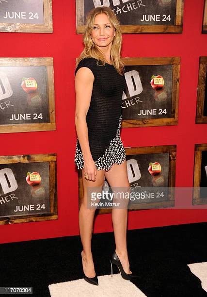 """Cameron Diaz attends the New York premiere of """"Bad Teacher"""" at the Ziegfeld Theatre on June 20, 2011 in New York City."""