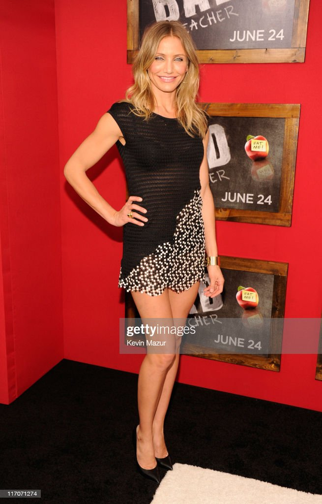 Cameron Diaz attends the New York premiere of 'Bad Teacher' at the Ziegfeld Theatre on June 20, 2011 in New York City.