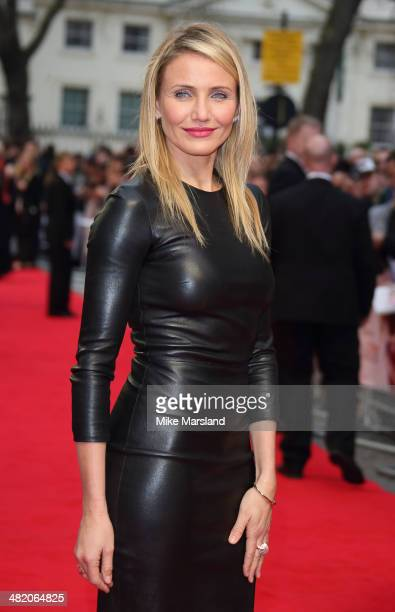 "Cameron Diaz attends the UK Gala premiere of ""The Other Woman"" at The Curzon Mayfair on April 2, 2014 in London, England."