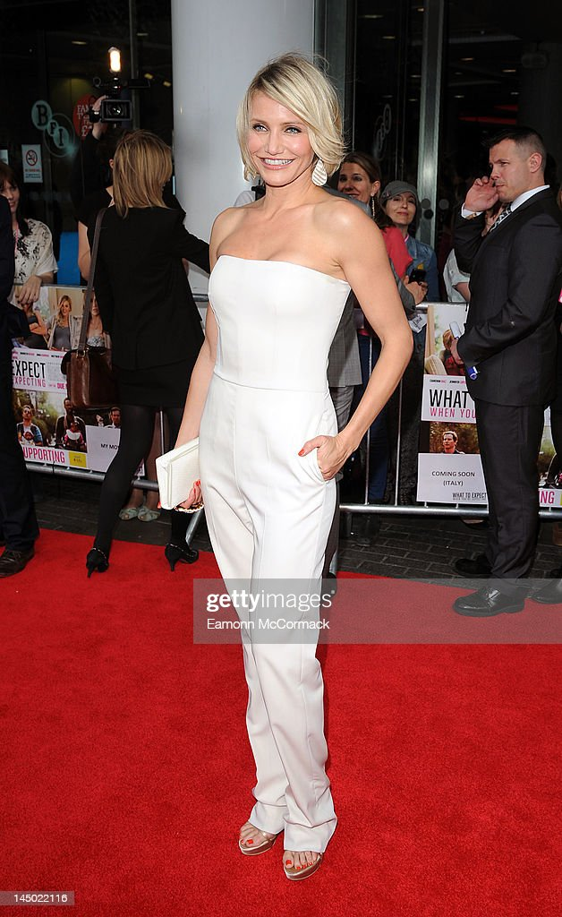 Cameron Diaz attends the UK premiere of 'What To Expect When You're Expecting' at BFI IMAX on May 22, 2012 in London, England.