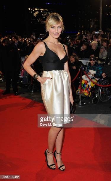 Cameron Diaz attends the World Premiere of 'Gambit' at Empire Leicester Square on November 7, 2012 in London, England.