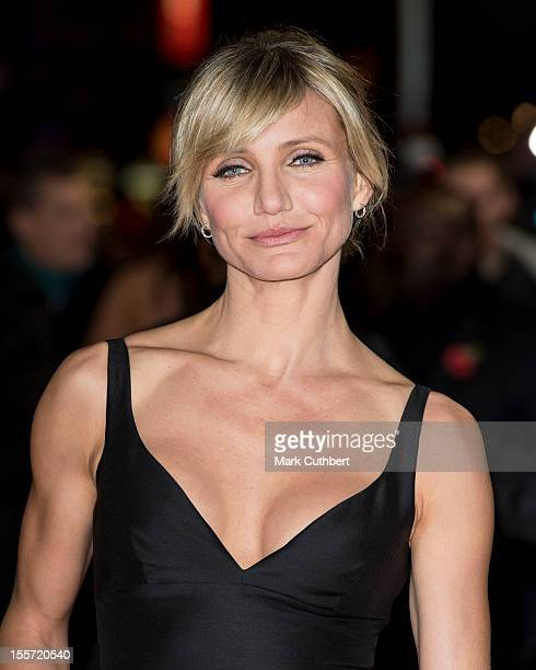 """Cameron Diaz attends the World Premiere of """"Gambit"""" at Empire Leicester Square on November 7, 2012 in London, England."""