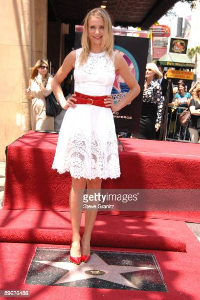 Cameron Diaz Cameron Diaz honored with a Star on the Hollywood Walk Of Fame on June 22 2009 in Hollywood California