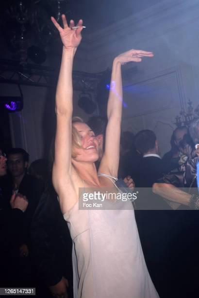 Cameron Diaz dances in a Calvin Klein Party during A Paris Fashion Weeks in the 1990s in Paris, France.