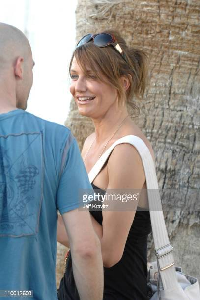 Cameron Diaz during 2007 Coachella Valley Music and Arts Festival Day One Backstage at Empire Polo Field in Indio California United States