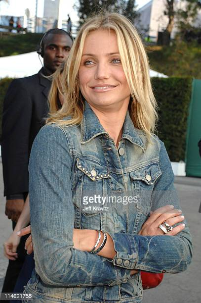 Cameron Diaz during 2007 MTV Movie Awards Backstage and Audience at Gibson Amphitheater in Los Angeles California United States